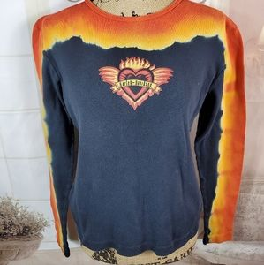 Harley Davidson Hawaii Sunset long sleeve t